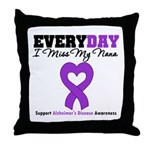 Alzheimer's MissMyNana Throw Pillow
