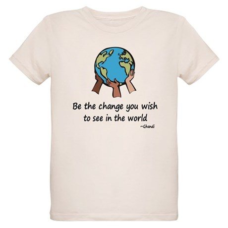 Be the Change Organic Kids T-Shirt
