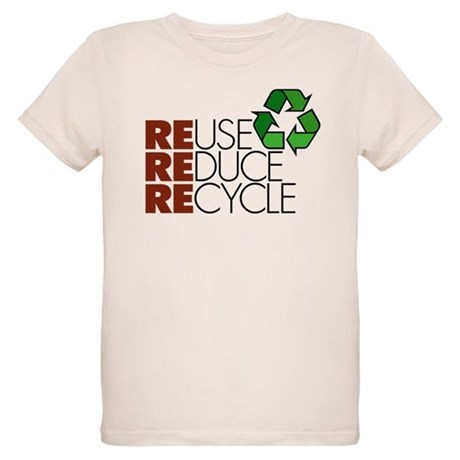 Reuse Reduce Recycle Organic Kids T-Shirt
