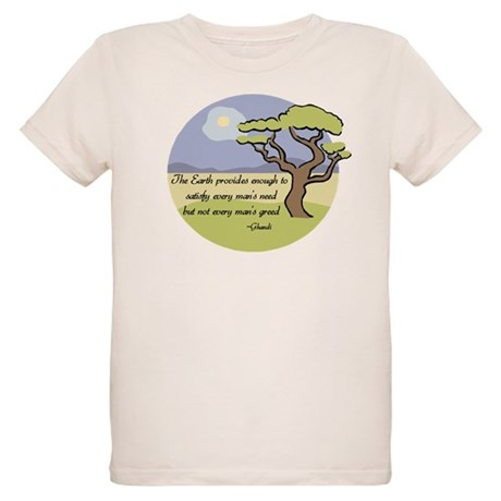 Ghandi Earth quote Organic Kids T-Shirt
