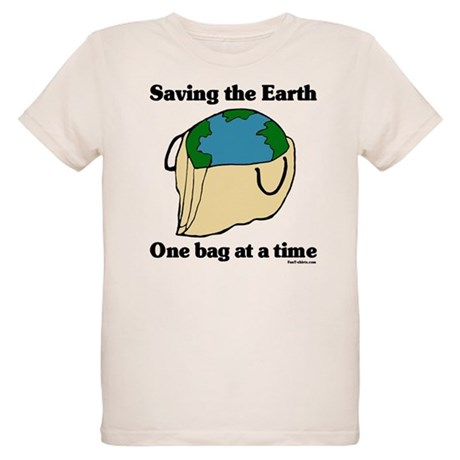Saving the Earth Organic Kids T-Shirt