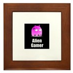 Alien Gamer Framed Tile