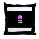 Alien Gamer Throw Pillow