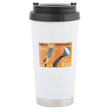 IRB Playing Basketball Collage Ceramic Travel Mug