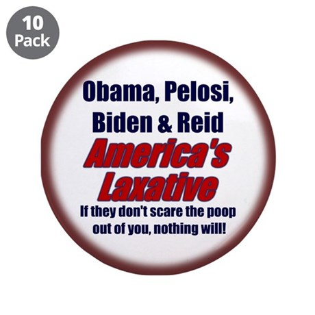 "Scare the Poop out of you... 3.5"" Button (10"