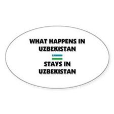 What Happens In UZBEKISTAN Stays There Decal
