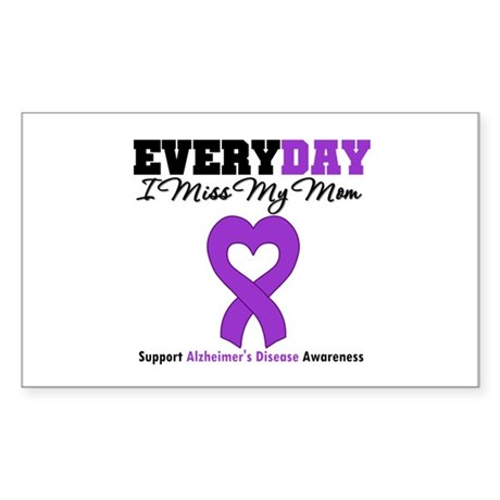 Alzheimer's MissMyMom Sticker (Rectangle)