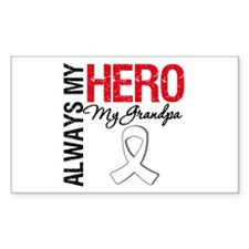 LungCancerHeroGrandpa Rectangle Sticker 10 pk)