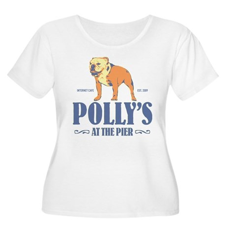 Polly's at the Pier Women's Plus Size Scoop Neck T