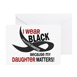 I Wear Black For My Daughter 33.2 Greeting Cards (
