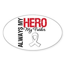 LungCancerHeroFather Oval Decal
