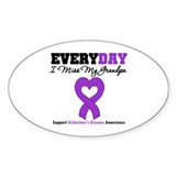 Alzheimer's MissMyGrandpa Oval Sticker (50 pk)