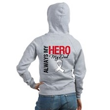 Lung Cancer Hero Dad Zip Hoody