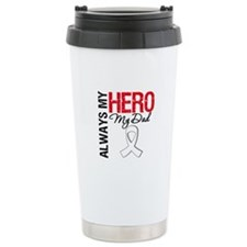 Lung Cancer Hero Dad Ceramic Travel Mug