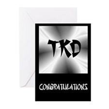 Faux Metallic Silver TKD Greeting Cards (Pk of 10)
