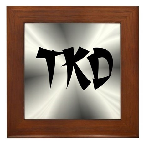 Faux Metallic Silver TKD Framed Tile