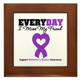 Alzheimer's MissMyFriend Framed Tile