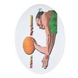 IRB Playing Basketball Oval Ornament