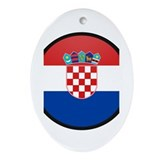 Croatia Oval Ornament