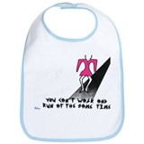 "Baby Bib with ""walk..."" logo"
