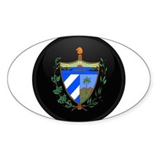 Coat of Arms of Cuba Oval Decal