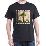 Palm Quilt Black T-Shirt