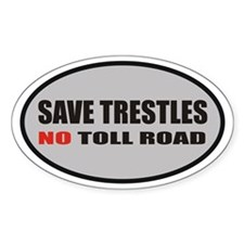 SAVE TRESTLES! Oval Decal