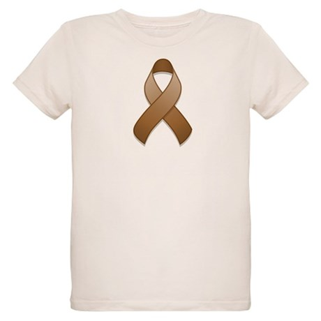 Brown Awareness Ribbon Organic Kids T-Shirt