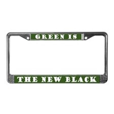 Green Is The New Black License Plate Frame