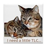 TLC tabbies Tile Coaster