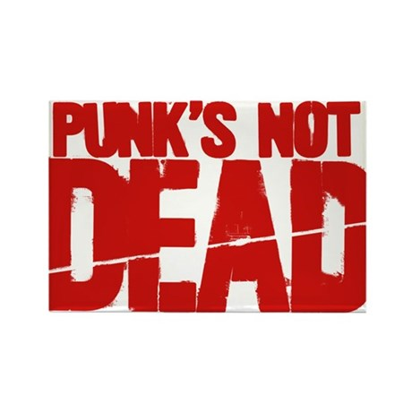 Punk's Not Dead Rectangle Magnet (100 pack)