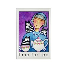 TEA PARTY No. 1... Cat Lover Refrigerator Magnet