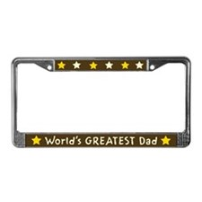 World's Greatest Dad License Plate Frame
