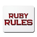 ruby rules Mousepad