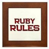 ruby rules Framed Tile