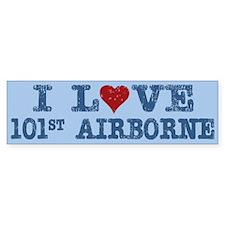 I Love Heart 101st Airborne Bumper Bumper Sticker
