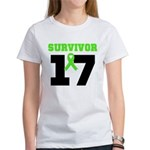 Lymphoma Survivor 17Year Women's T-Shirt