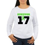 Lymphoma Survivor 17Year Women's Long Sleeve T-Shi