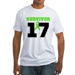 Lymphoma Survivor 17Year Fitted T-Shirt