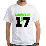 Lymphoma Survivor 17Year White T-Shirt