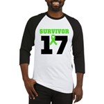 Lymphoma Survivor 17Year Baseball Jersey