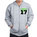 Lymphoma Survivor 17Year Zip Hoodie
