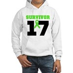 Lymphoma Survivor 17Year Hooded Sweatshirt