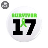 "Lymphoma Survivor 17Year 3.5"" Button (10 pack)"
