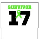 Lymphoma Survivor 17Year Yard Sign