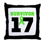 Lymphoma Survivor 17Year Throw Pillow