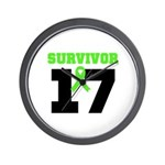Lymphoma Survivor 17Year Wall Clock