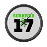 Lymphoma Survivor 17Year Large Wall Clock