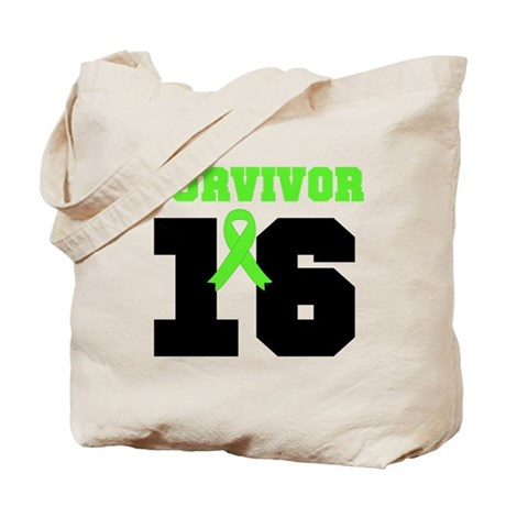 Lymphoma Survivor 16 Year Tote Bag