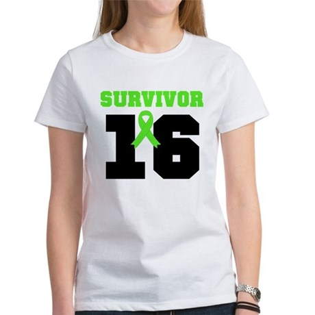 Lymphoma Survivor 16 Year Women's T-Shirt